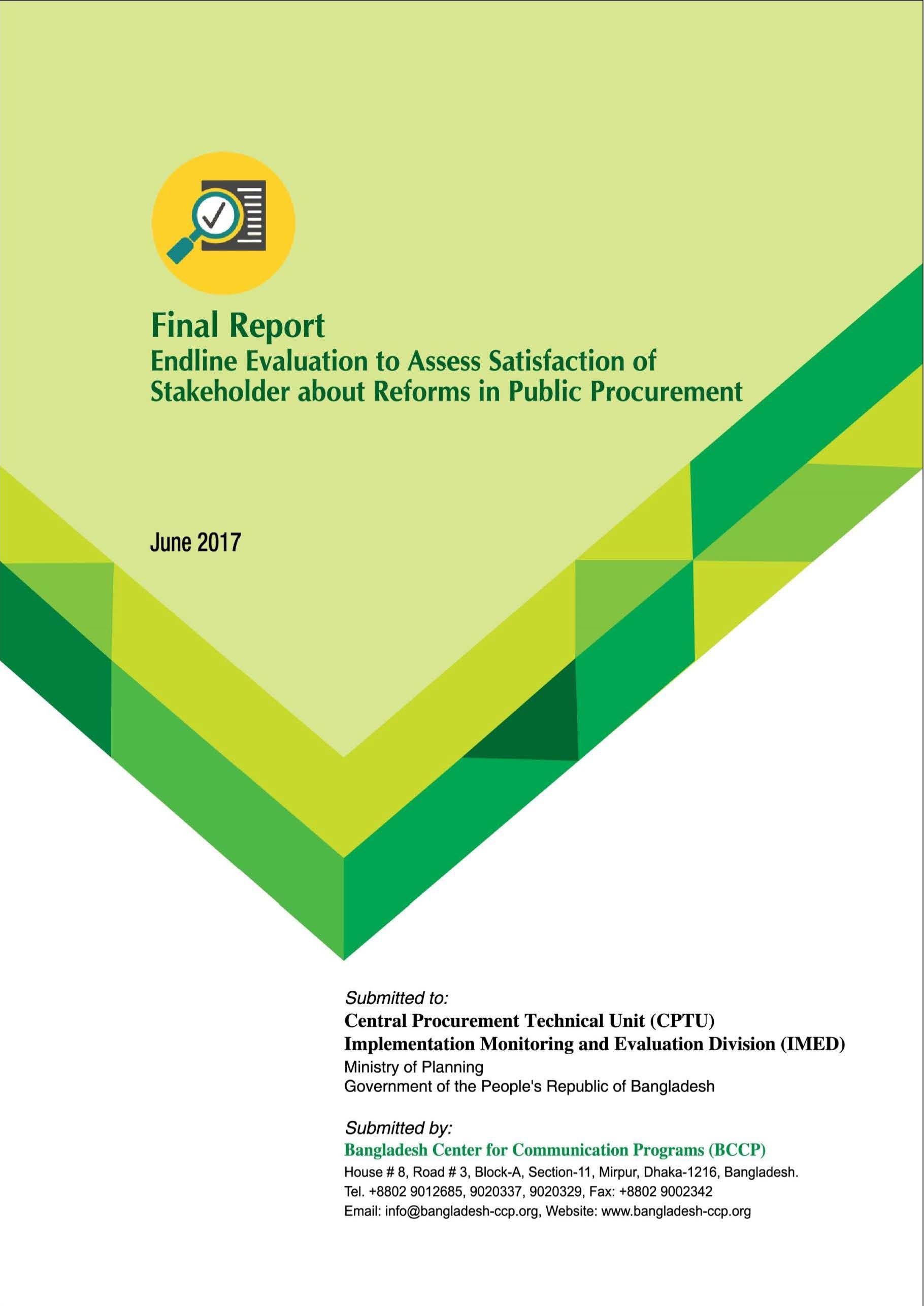FINAL Report_Endline_Evaluation. Project Name :